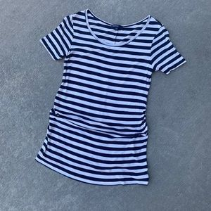 Gap Maternity small Navy Blue striped t-shirt
